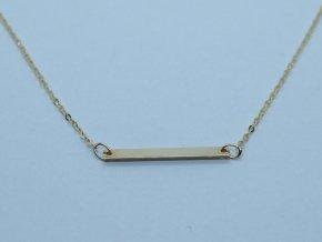 Zlatý náhrdelník s destičkou žlutý (2)