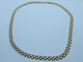 Zlatý náhrdelník žlutý (1)