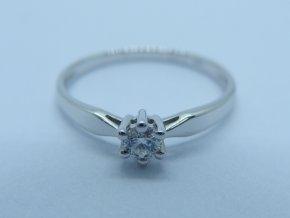 Zlatý prsten s briliantem bílý (1)