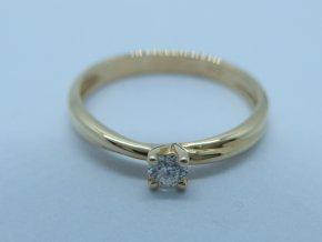 Zlatý prsten s briliantem žlutý (1)