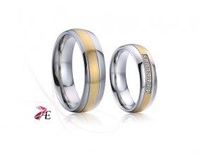 Ocelové snubní prsteny - 020 - Brad a Angelina