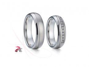 Ocelové snubní prsteny - 001 - Romeo a Julie