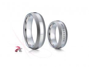 Ocelové snubní prsteny - 002 - Caesar a Cleopatra