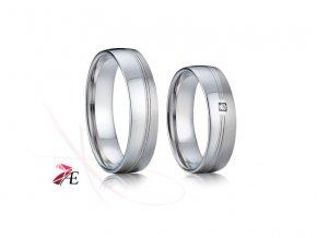 Ocelové snubní prsteny - 005 - Radúz a Mahulena