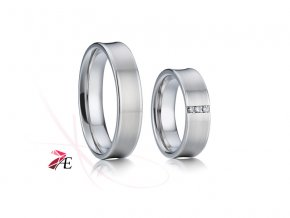 Ocelové snubní prsteny - 006 - Adam a Eva