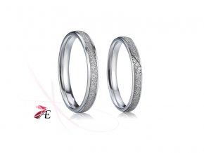 Ocelové snubní prsteny - 007 - Radovan a Lada