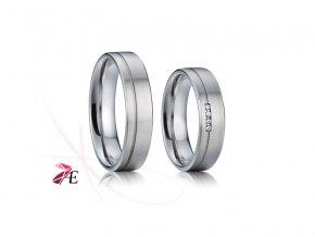 Ocelové snubní prsteny - 010 - Robin a Mariana
