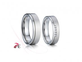 Ocelové snubní prsteny - 012 - Lancelot a Guinevera
