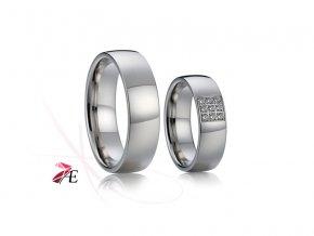 Ocelové snubní prsteny - 016 - Petr a Lucie