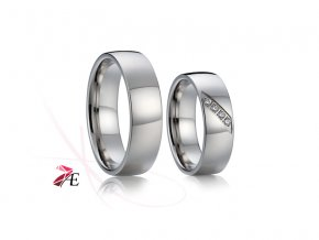 Ocelové snubní prsteny - 017 - Tristan a Isolda