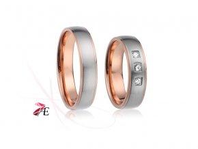 Ocelové snubní prsteny - 018 - Wiliam a Kate