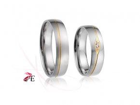 Ocelové snubní prsteny - 019 - Paris a Helena