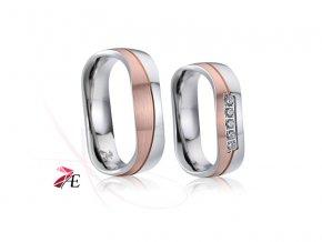 Ocelové snubní prsteny - 021 - Napoleon a Josefína
