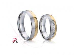 Ocelové snubní prsteny - 023 - Jindřich a Eliška