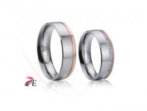Ocelové snubní prsteny - 024 - Orfeus a Euridika
