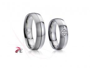 Ocelové snubní prsteny - 025 - Lennon a Yoko Ono
