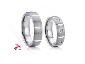 Ocelové snubní prsteny - 026 - Vilém a Jarmila