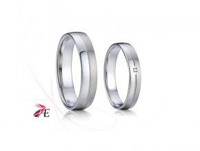 Stříbrné snubní prsteny - 008 925AG - Kristián a Mařenka