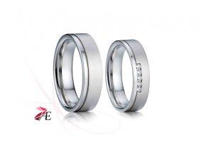 Stříbrné snubní prsteny - 012 925AG - Lancelot a Guinevera