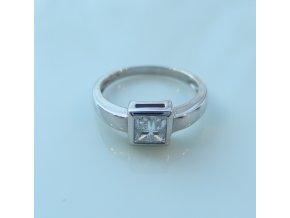 Zlatý prsten - bílý se zirkonem
