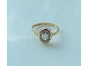 Zlatý prsten - žlutý se zirkony