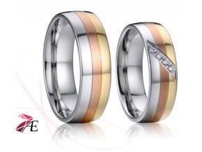 Ocelové snubní prsteny - 027 - Edward a Bella
