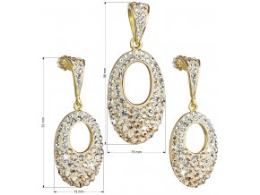 SOUPRAVA SE SWAROVSKI ELEMENTS 39075.6 GOLD GOLD