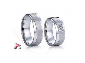 Ocelové snubní prsteny - 028 - Karel a Lori