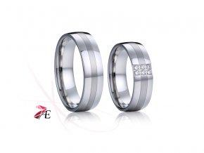 Ocelové snubní prsteny - 031 - Amadeo a Jeanne