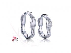 Stříbrné snubní prsteny - 030 925AG