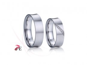 Stříbrné snubní prsteny - 032 925AG
