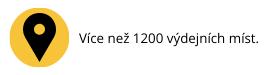 1200 výdejních míst