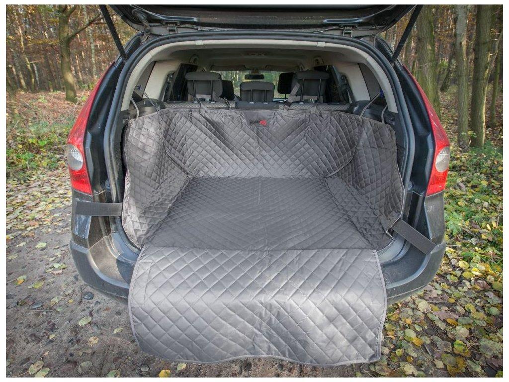 Ochranný potah kufru do auta - šedý, max. rozměr 110 x 100 cm