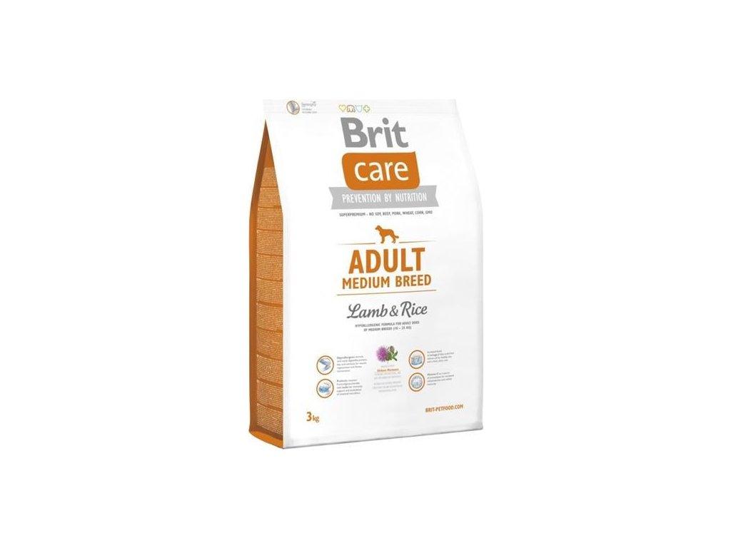 Brit Care Dog Adult Medium Breed Lamb & Rice NOVÝ 3 kg