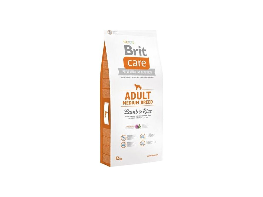Brit Care Dog Adult Medium Breed Lamb & Rice NOVÝ 12 kg