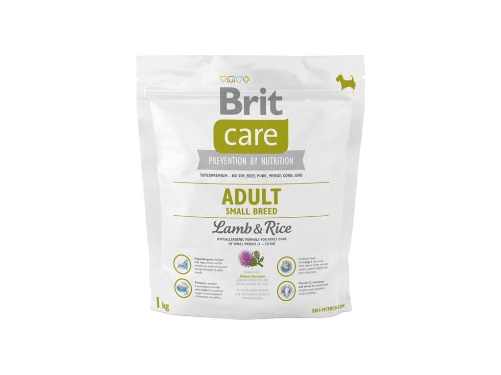 Brit Care Dog Adult Small Breed Lamb & Rice NOVÝ 1 kg