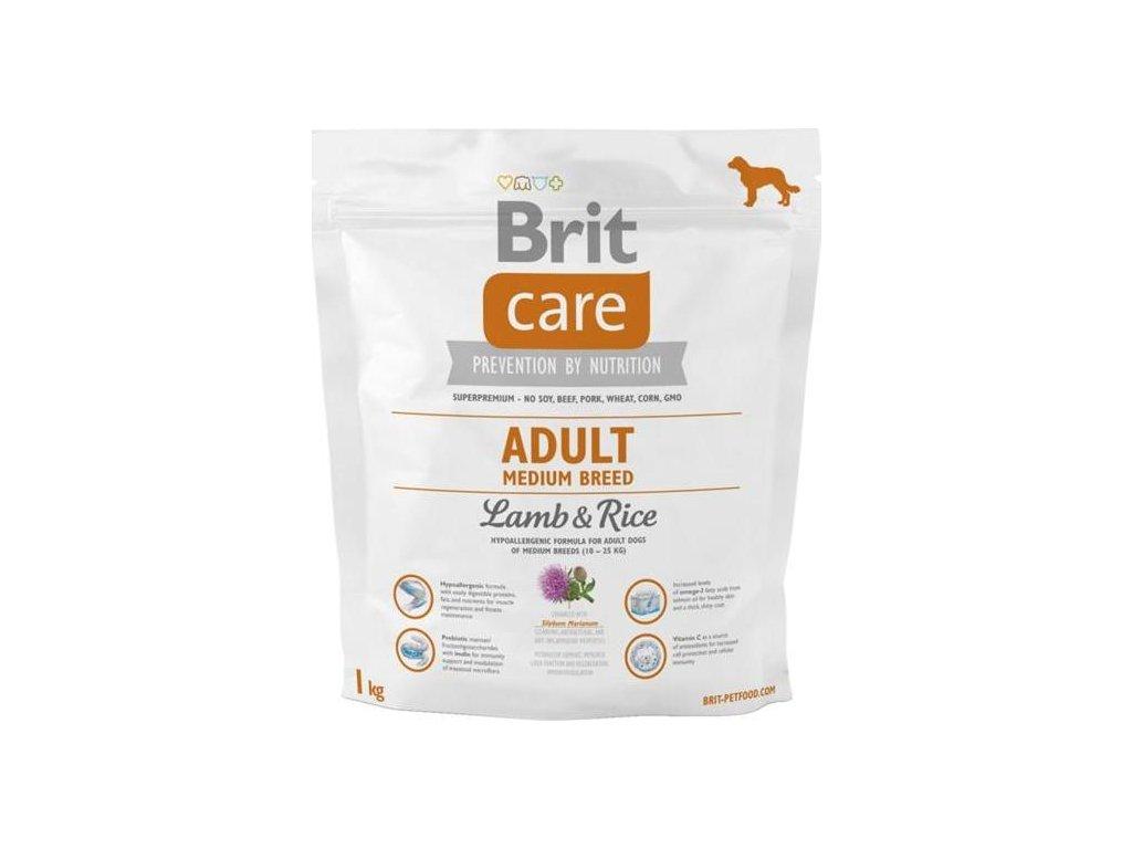 Brit Care Dog Adult Medium Breed Lamb & Rice NOVÝ 1 kg