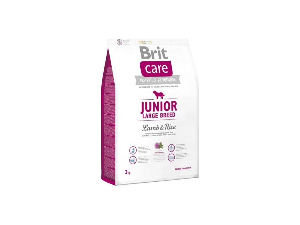 Brit Care Dog Junior Large Breed Lamb & Rice NOVÝ 3 kg