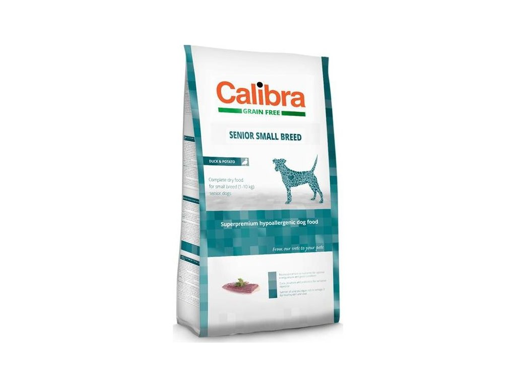 Calibra Dog GF Senior Small Breed Duck NOVÝ 7 kg
