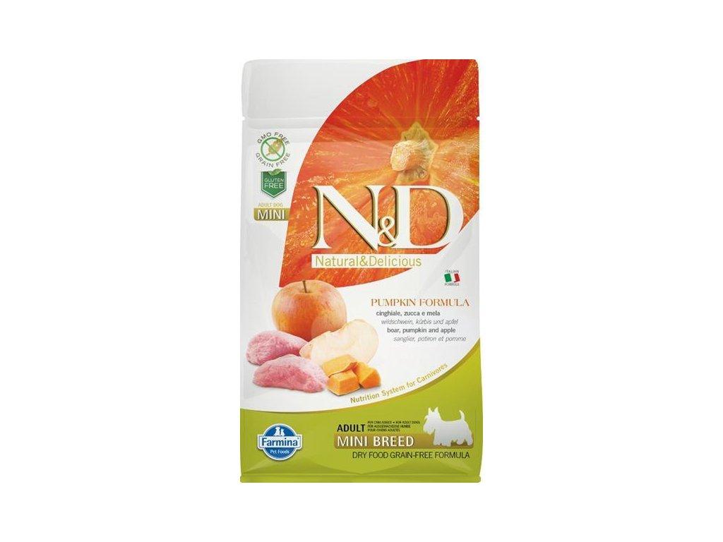 N&D Grain Free Dog Adult Mini Pumpkin Boar & Apple 800 g