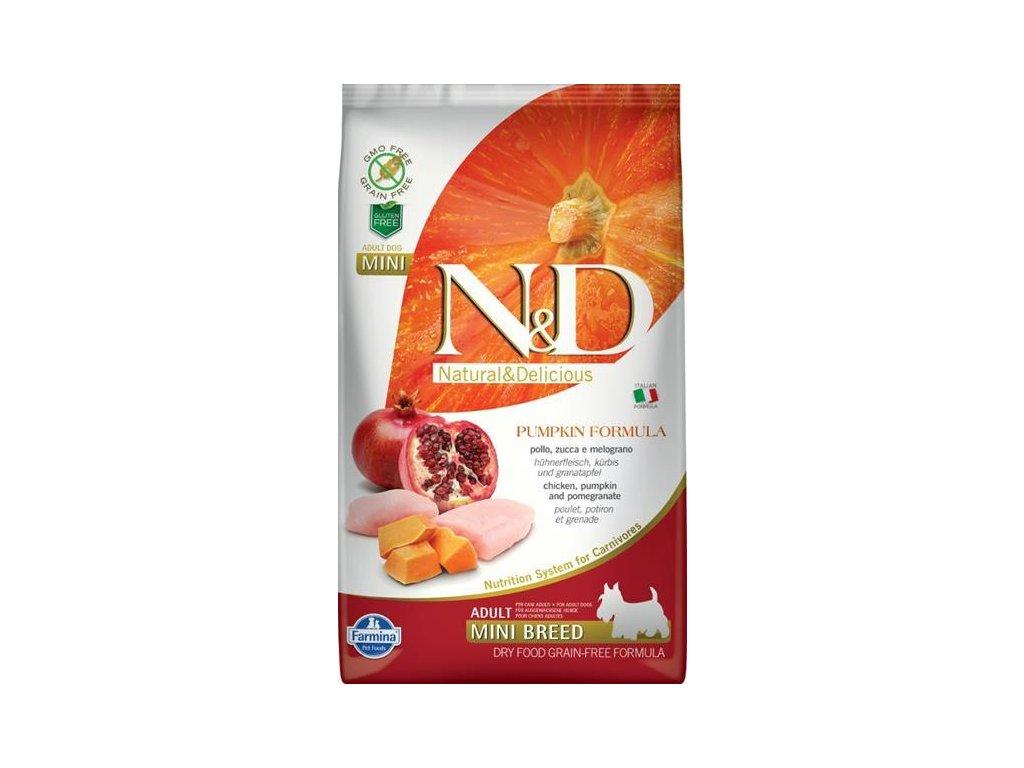 N&D GF Pumpkin DOG Adult Mini Chicken&Pomegranat 2,5kg