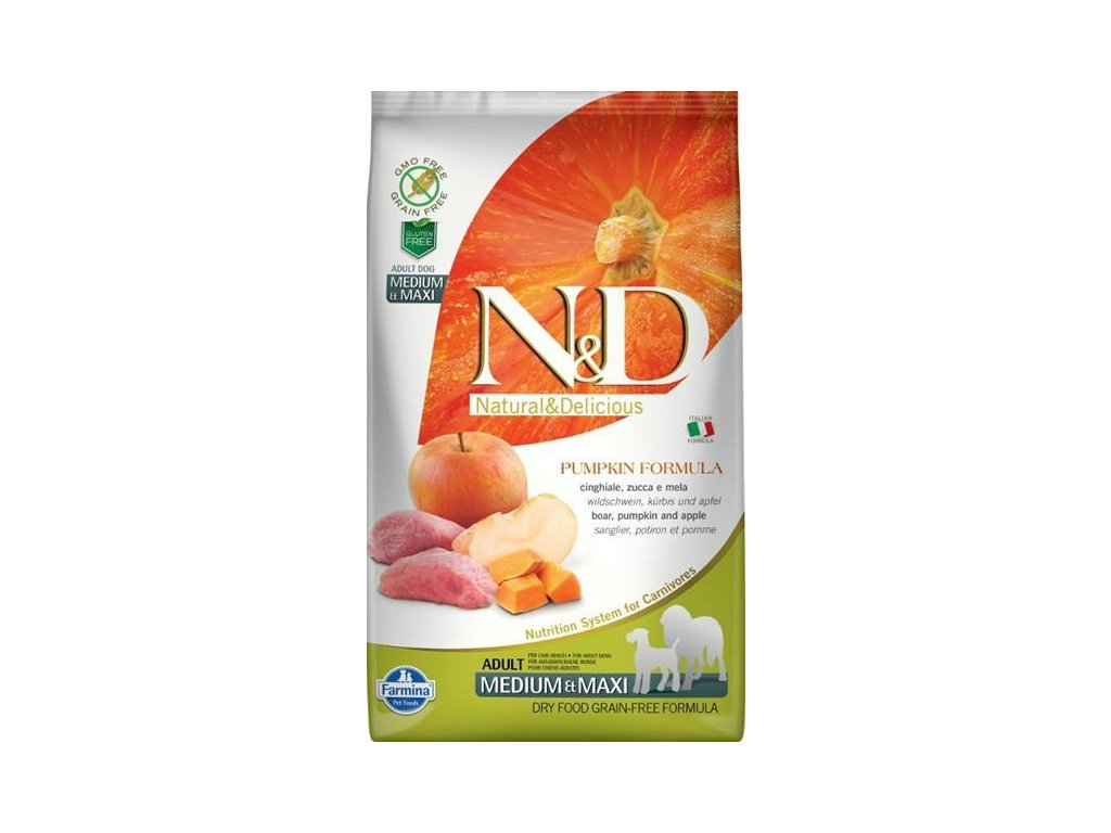 N&D Grain Free Dog Adult M/L Pumpkin Boar & Apple 2,5 kg