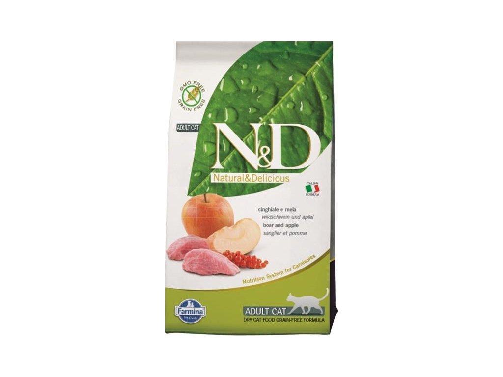 N&D GF CAT Adult Boar & Apple 10kg