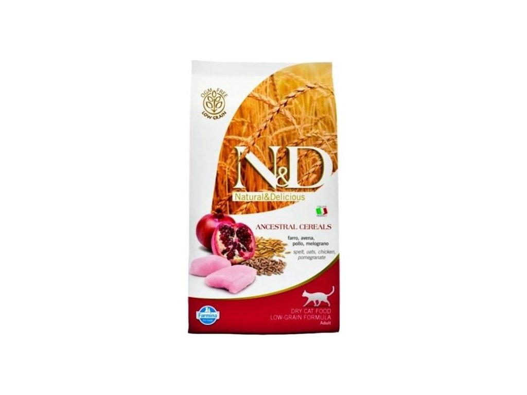 N&D Low Grain Cat Neutered Chicken & Pomegranate 0,3 kg