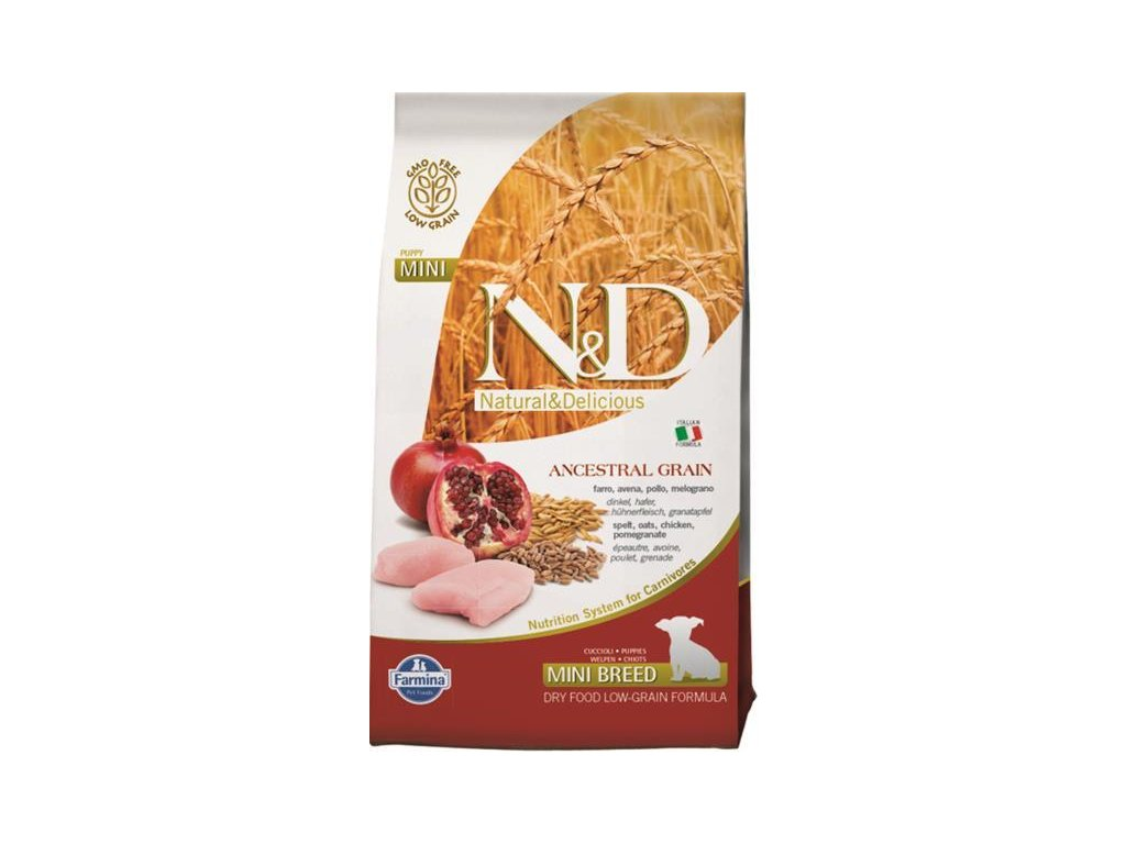 N&D Low Grain Dog Puppy Mini Chicken & Pom. 0,8 kg