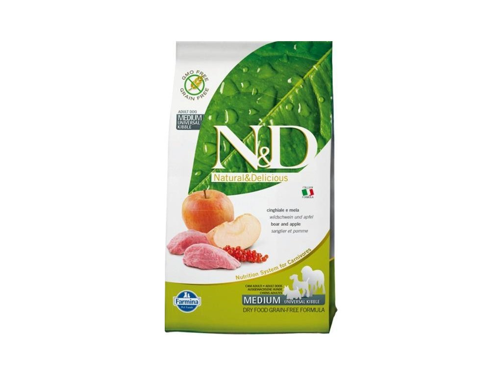 N&D GF DOG Adult Boar & Apple 800g
