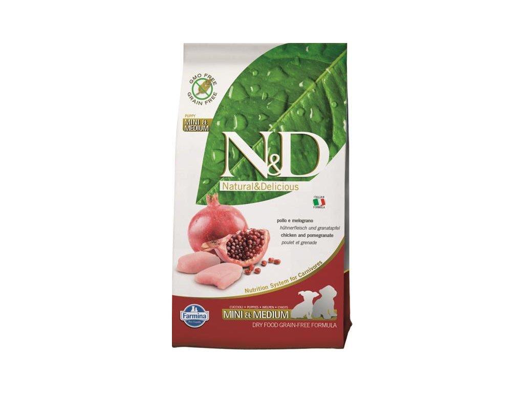 N&D Grain Free Dog Puppy S/M Chicken & Pom. 2,5 kg