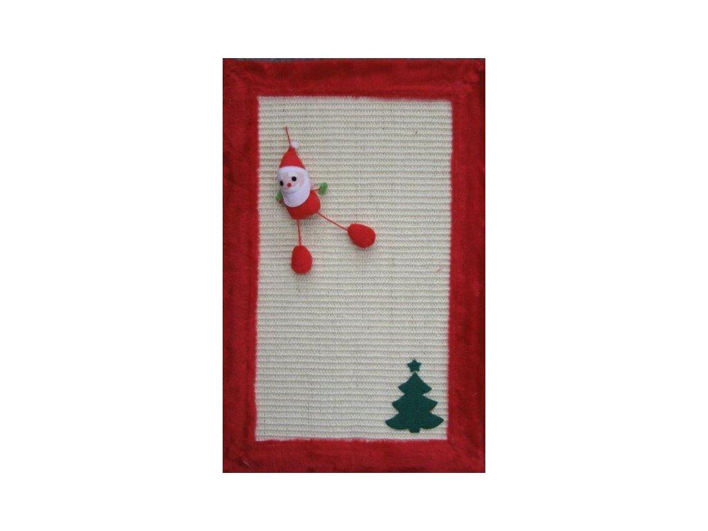 Vánoční škrábací deska pro kočky se sobem a stromkem 55x35cm