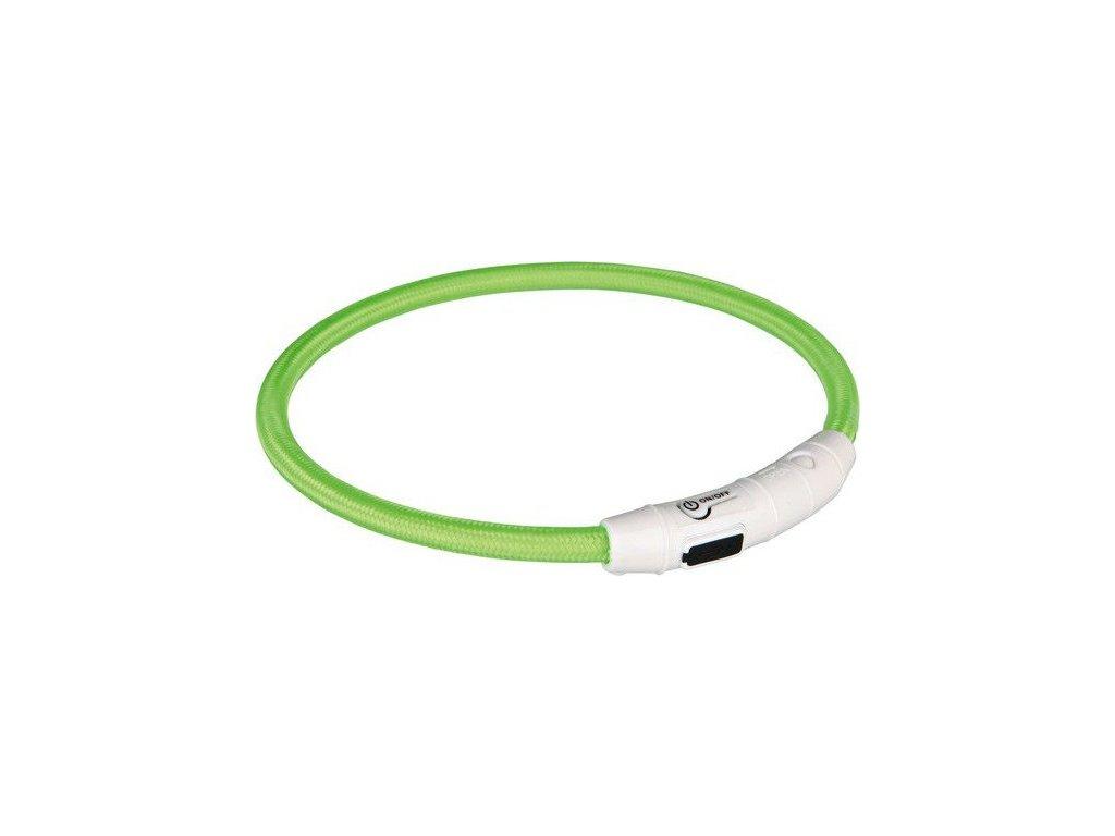 Svítící kroužek USB na krk XS-S 30 cm zelená