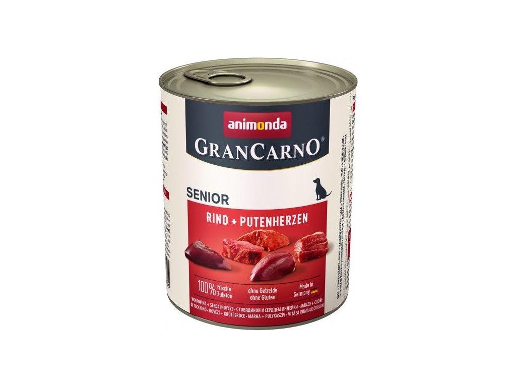 GRANCARNO Senior - s kuřetem + krůtí srdce 800 g